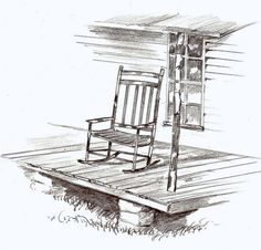 Porch clipart Home Chair Old clipart On