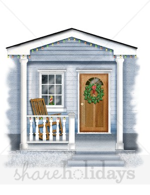 Porch clipart Front  city house the