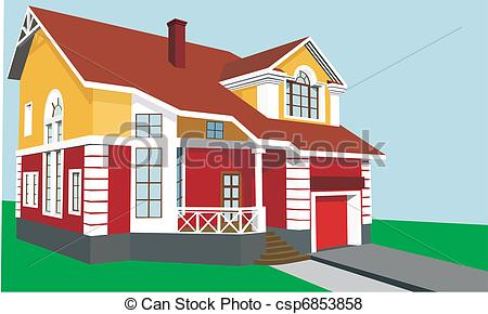 Hosue clipart beautiful house House house csp6853858 story a