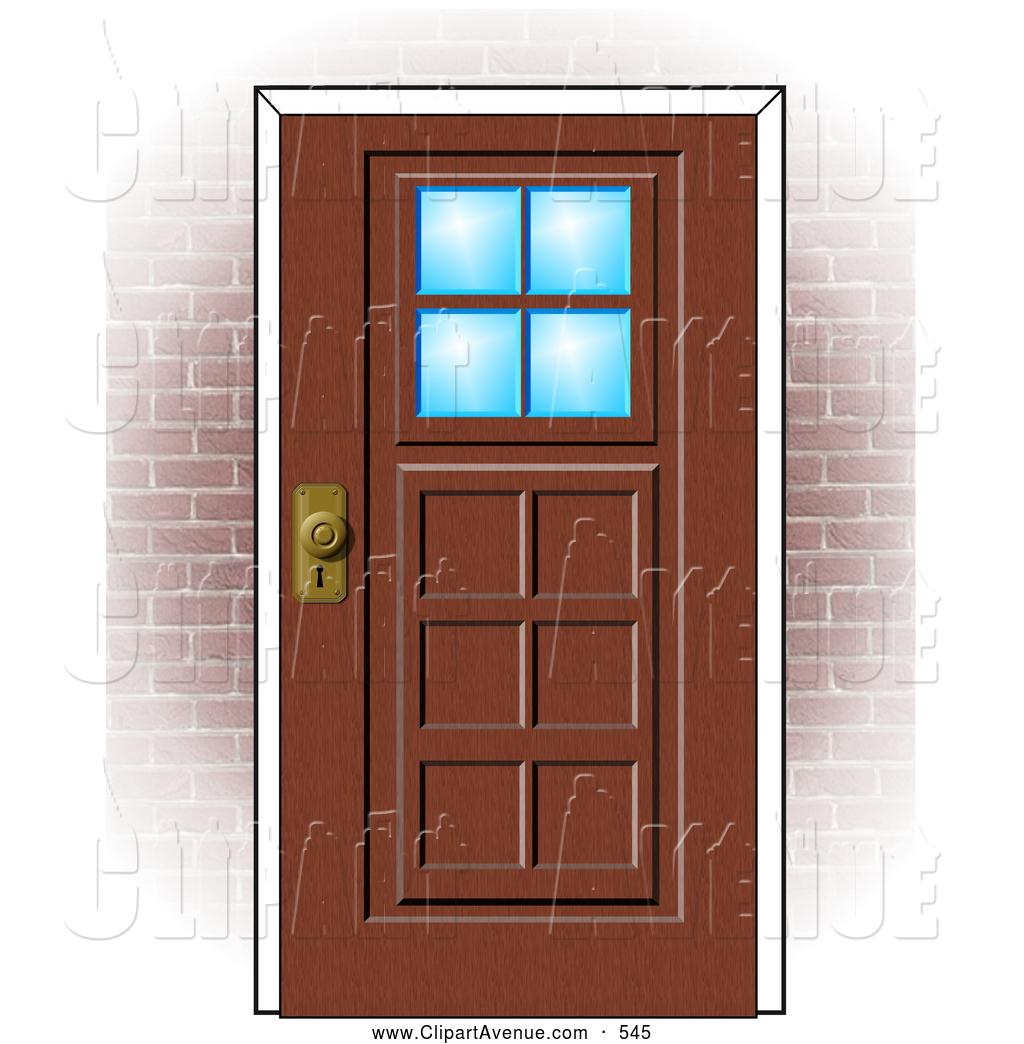 Open Door clipart wooden door & Door house Clipart