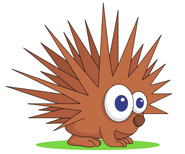 Porcupine clipart Pictures Illustrations Free Clipart Size: