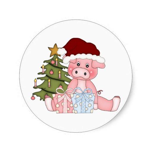 Pork clipart christmas pig Pig Printables on Sticker best