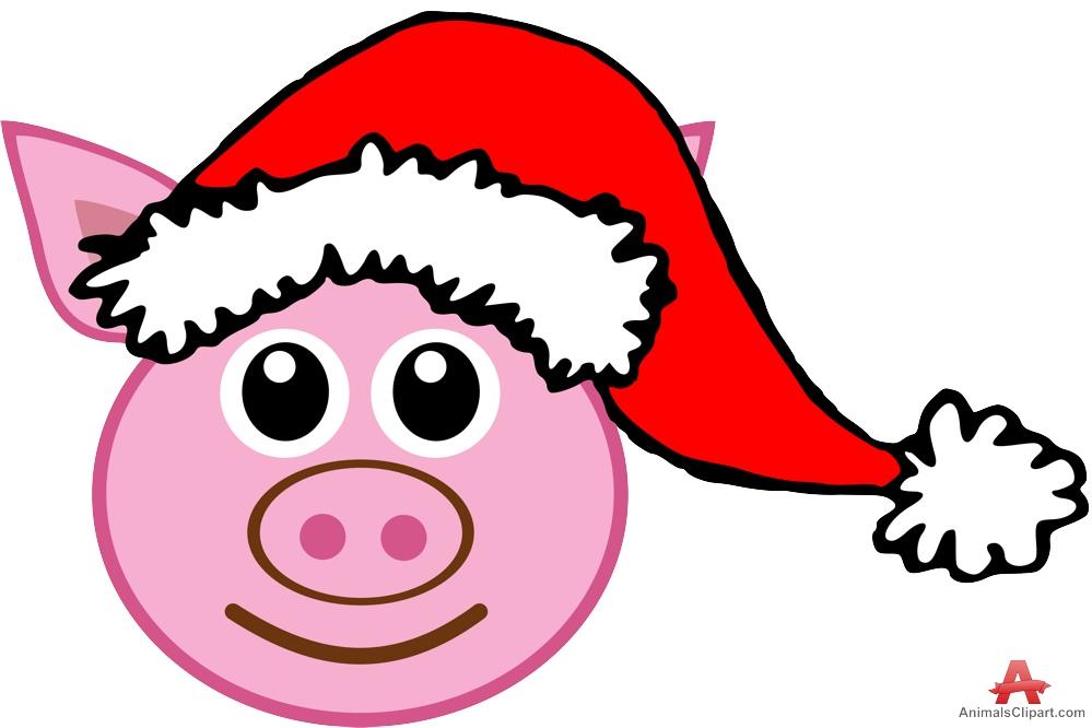 Pork clipart christmas pig Pig Design Christmas Free Clipart