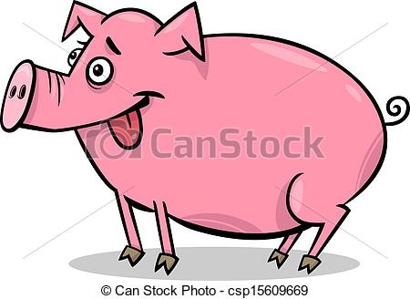 Pork clipart farm animal Cartoon Cartoon illustration animal Vector