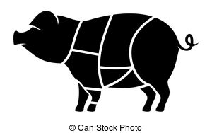 Pork clipart piece meat Butcher of meat meat