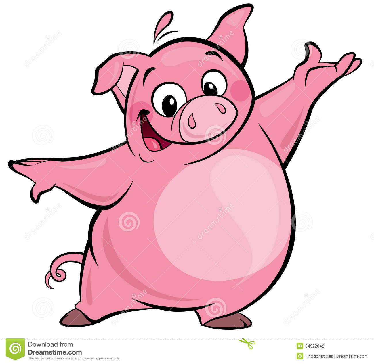 Pork clipart pink pig Pink Pig character Pig clipart