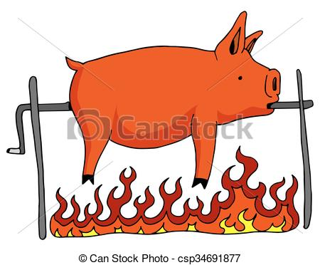Pork clipart roasted pig Of image Roasted  An