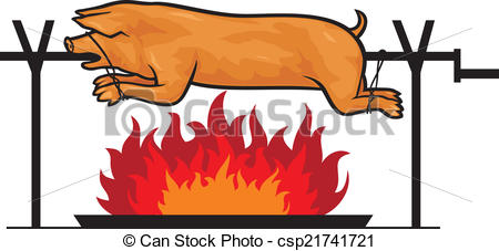 Pork clipart roasted pig Of pig roasted  grilled