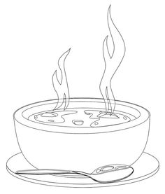Basket clipart soup bowl On Clipart Clip  porridge