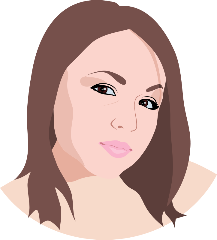 Brunette clipart woman face Art – Art Clip Girl