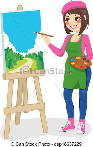 Paint clipart artistic  Artist Painting artist csp18637229