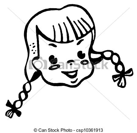 Braid clipart pigtail Of Art Search of girl