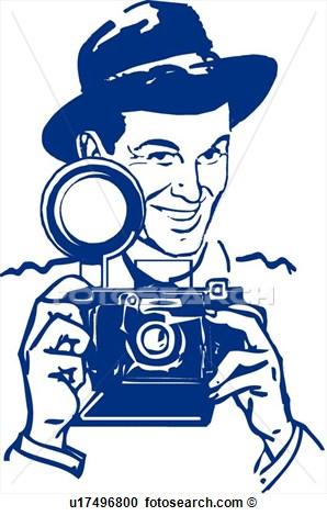 Retro clipart photographer #3
