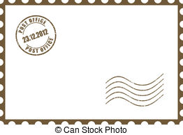 Postcard clipart black and white  illustration royalty postcard Postcard