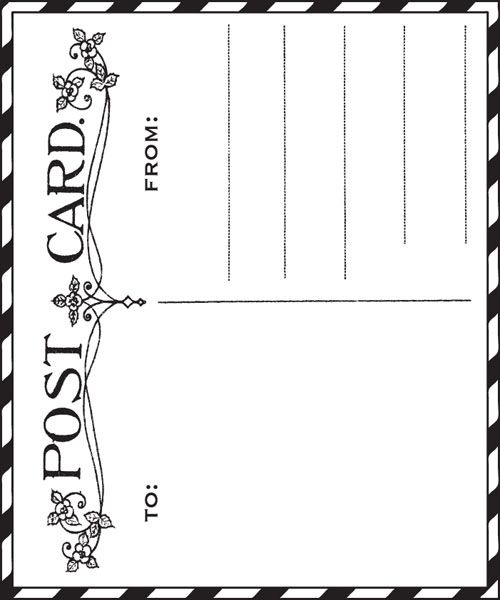 Postcard clipart black and white About more postcards  best