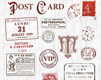 Postcard clipart postmark Clipart 15 clipart clipart post