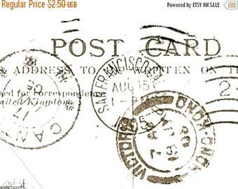 Postcard clipart postmark Postcard SVG Collage Antique Postmarks