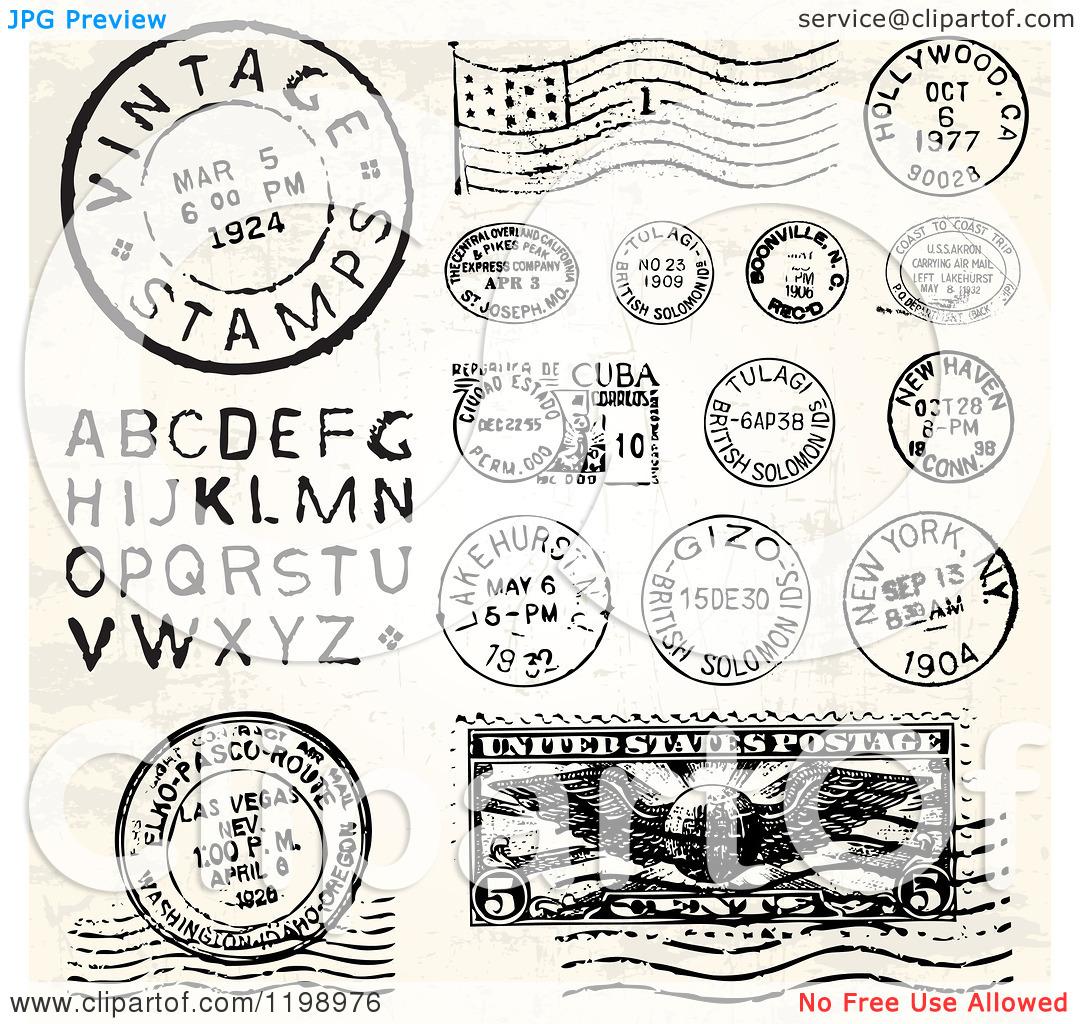 Postcard clipart postmark Postmark Clipart Letters and Vector