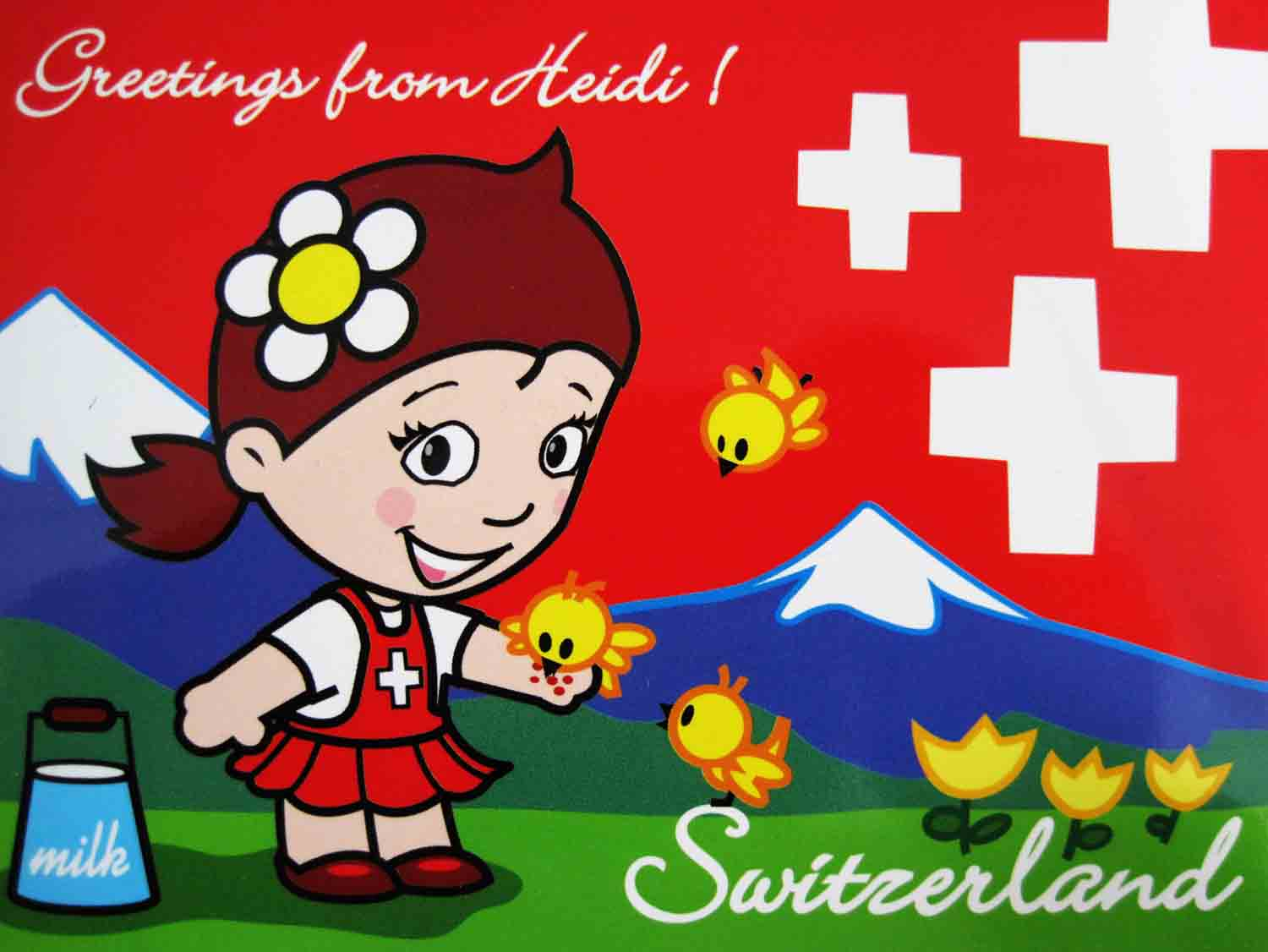 Postcard clipart switzerland Swiss stereotypes of stereotypes Pinterest