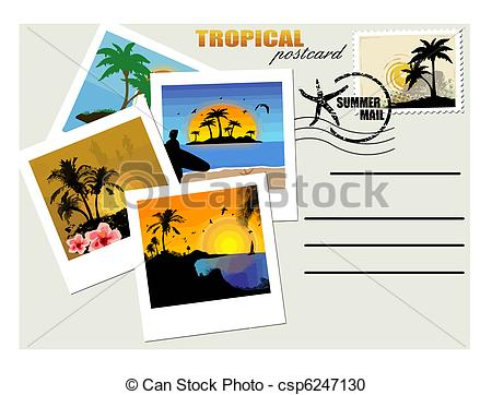 Postcard clipart travel postcard  Postcard postcard 247 with