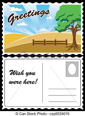 Postcard clipart vector Vector Landscape Travel  Landscape