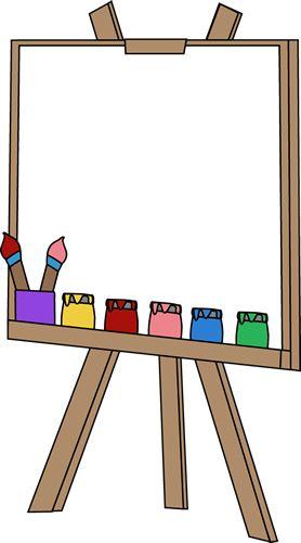 Paint clipart student painting Pinterest easel art Easel canvas