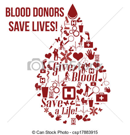Blood clipart is life Give blood Clip poster csp17883915