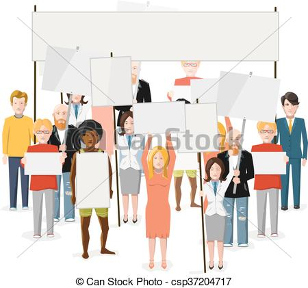 Riot clipart crowded Clip people empty illustration Riot