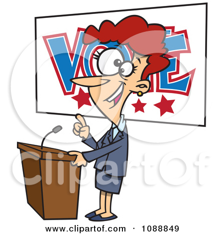Supporters clipart politician speech Royalty Election Graphics (RF) art