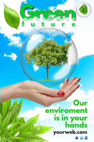 Poster clipart environmental cleanliness Template Environment Poster PosterMyWall Templates