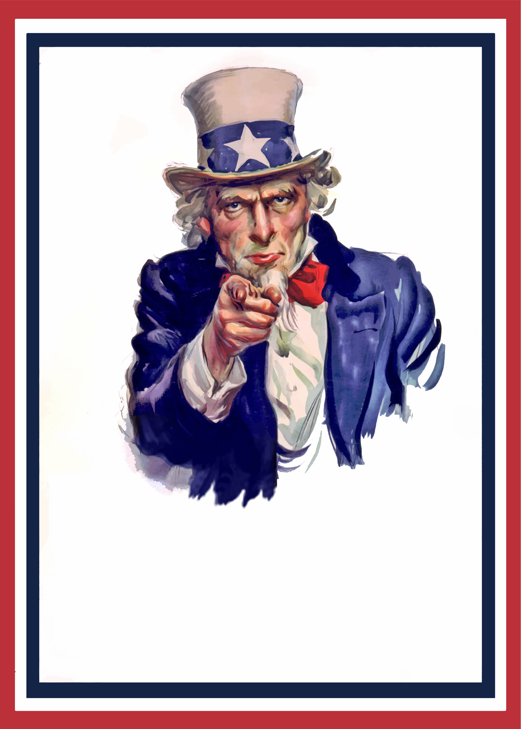 Uncle Sam clipart poster Two Sam Two War War