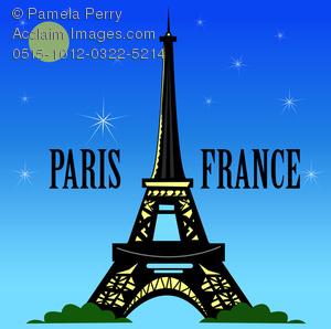 Poster clipart paris france #11
