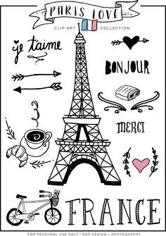 Sketch clipart paris Paris Love Download} Drawn KSM