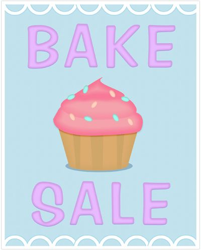 Vanilla Cupcake clipart sale sign Printable images Bake on Sale