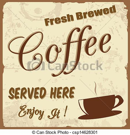 Coffee clipart vintage coffee Of Vintage Coffee poster Vector