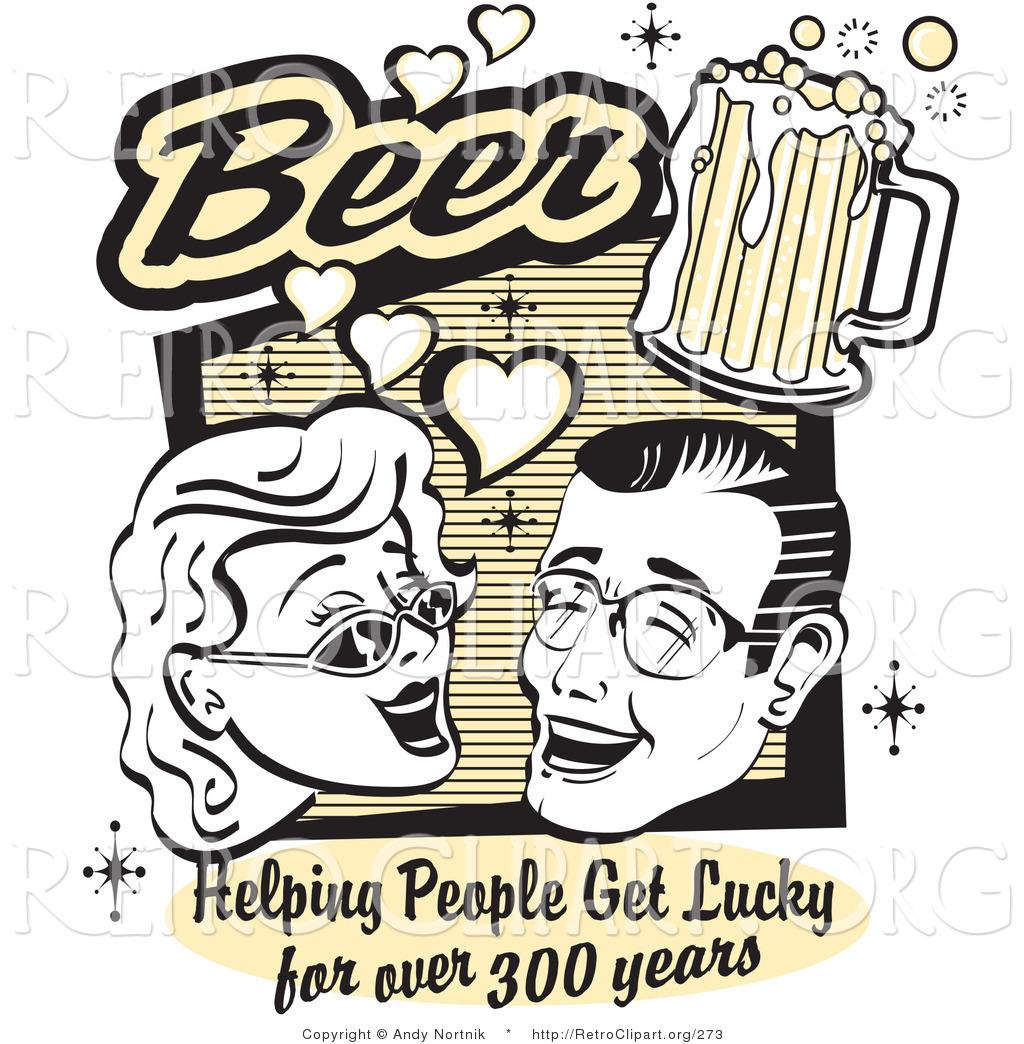Beer clipart retro #1