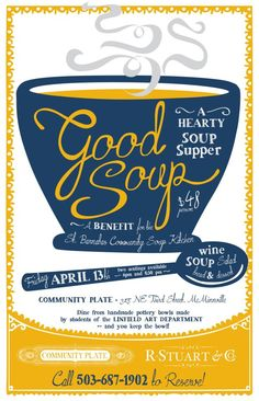 Poster clipart soup kitchen Barnabus Soup and and Community