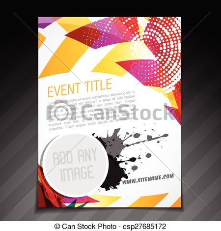 Poster clipart template Vector  event design event