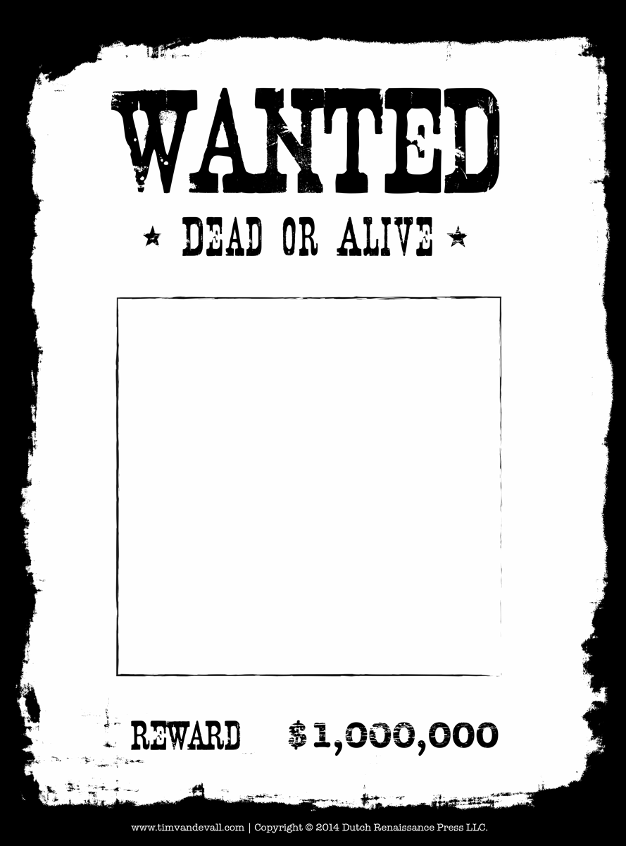 Poster clipart template Wanted resume Blank Wanted Poster