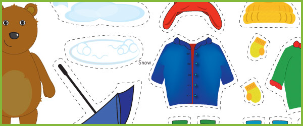 Poster clipart weather Dress Bear Free resources) Posters