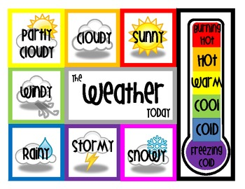 Poster clipart weather Weather Math + Seasons Focus