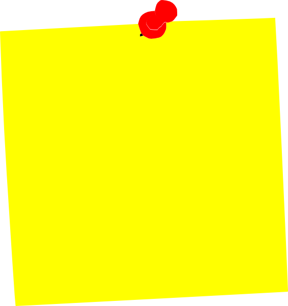 Post-it clipart Art It Yellow clip as: