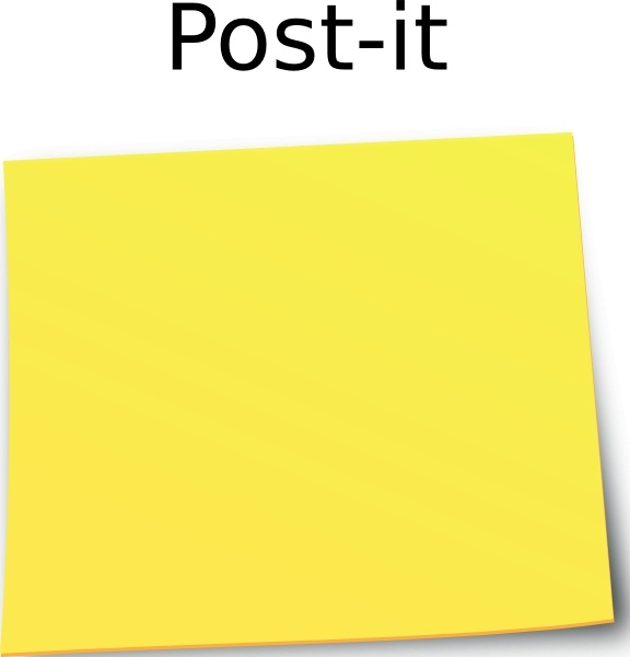 Paper clipart post it It Note Post Post drawing