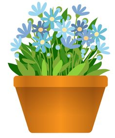 Pot Plant clipart 7 pot CLIPART Daisies PNG