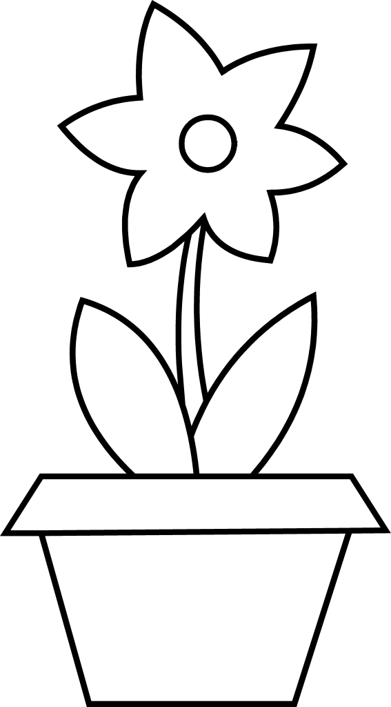 Plant clipart colouring Coloring Page Flower Page Coloring