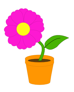 Book clipart flower Clip  in Flower Free