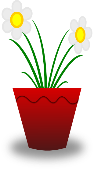 Camomile clipart potted plant Daisy picture plant Another two