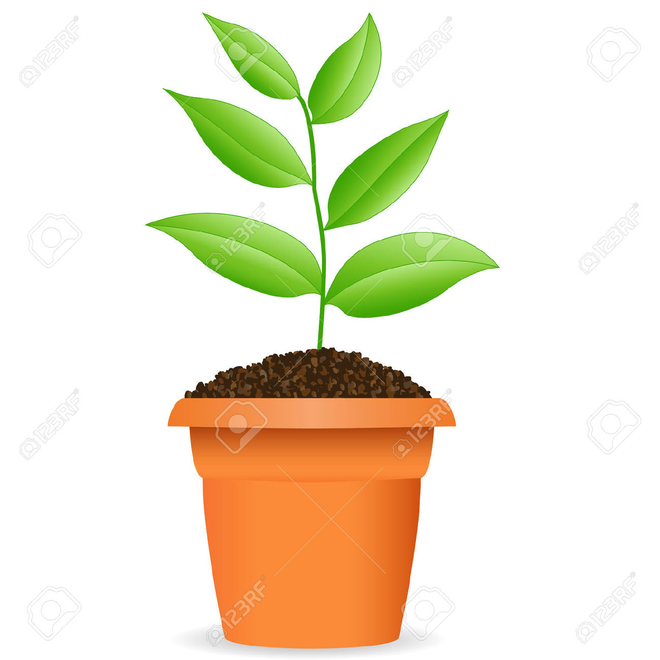 Drawn pot plant clipart For Plant Full Emoji A