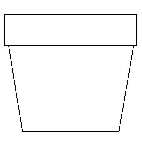 Drawn pot plant traceable Pot printable Pot Coloring pot