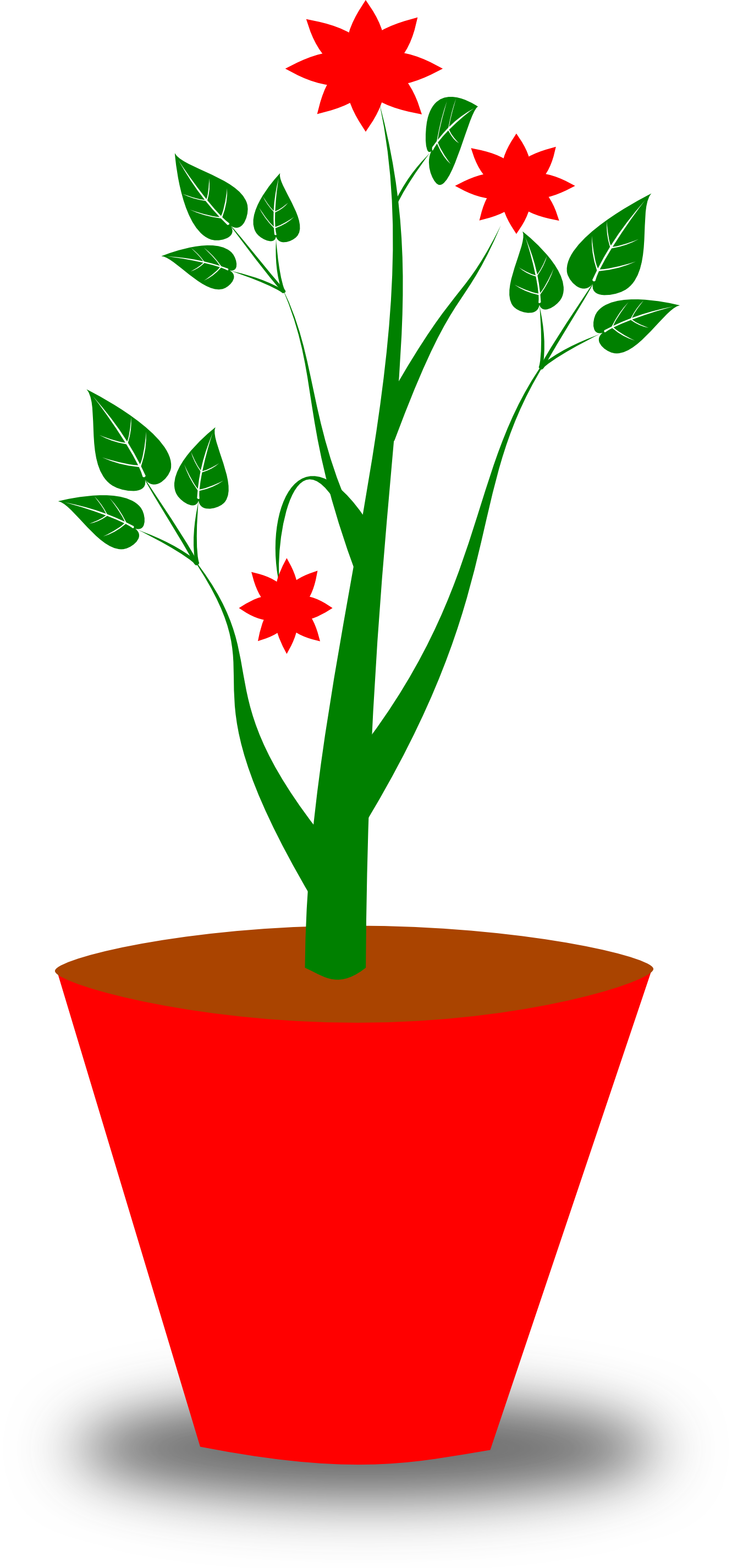 Drawn pot plant clipart Kid Potted Potted com 3